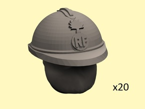 28mm WW1 French gasmask heads in Smoothest Fine Detail Plastic