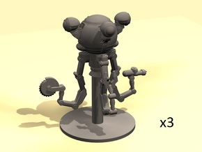 28mm Wastefall Handy Robot  in Frosted Ultra Detail