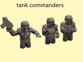 28mm (neo)Soviet tank commanders in Smooth Fine Detail Plastic