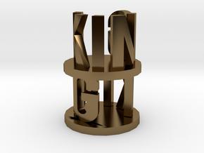 Alpha King in Polished Bronze