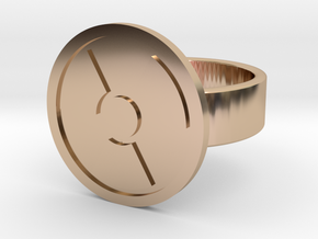 Radioactive Ring in 14k Rose Gold Plated Brass: 10 / 61.5