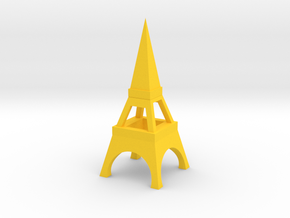Tower in Yellow Processed Versatile Plastic: Medium