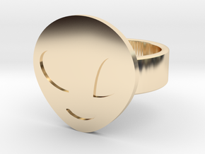 Alien Ring in 14k Gold Plated Brass: 8 / 56.75