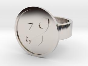Rocket Ring in Rhodium Plated Brass: 8 / 56.75