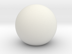 "Sphere ""ideal"" in White Natural Versatile Plastic"