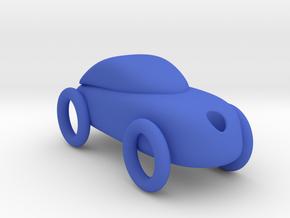 Car key holder in Blue Processed Versatile Plastic