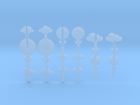 Cake Topper - Clouds & Balloon series in Smooth Fine Detail Plastic