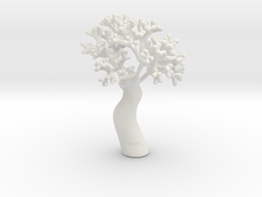 A fractal tree in White Natural Versatile Plastic