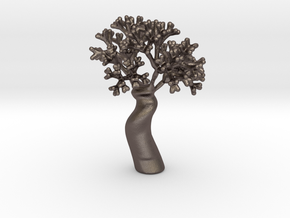 A fractal tree in Polished Bronzed Silver Steel