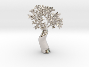 A fractal tree in Rhodium Plated Brass