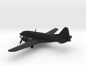 Ilyushin Il-12 Coach in Black Natural Versatile Plastic: 6mm