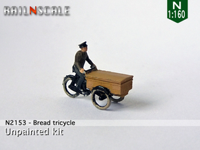 Bread tricycle (N 1:160) in Smoothest Fine Detail Plastic