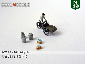 Milk tricycle (N 1:160) in Smoothest Fine Detail Plastic