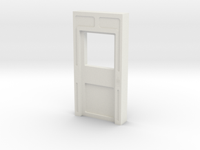 Door Int Sngl Clsd no Thrs w Win (Space 1999) 1/30 in White Natural Versatile Plastic