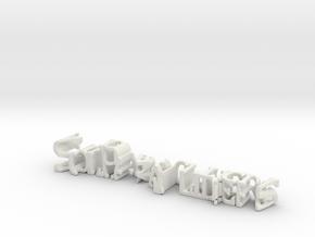 3dWordFlip: SolParagliders/Nikolas  Letícia in White Natural Versatile Plastic