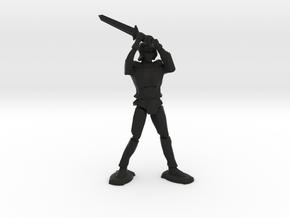 Armored Knight in Black Natural Versatile Plastic