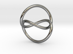 Infinity Knot Pendant in Polished Silver