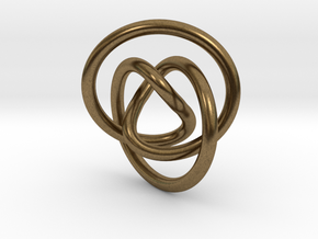 Impossible Knot Pendant in Natural Bronze