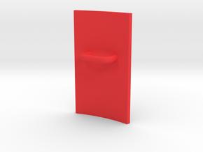 Shield in Red Processed Versatile Plastic