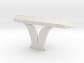 Console Type 7 (Star Trek) in White Natural Versatile Plastic: 1:30