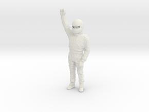 1/18 Racing Champion Standing in White Natural Versatile Plastic