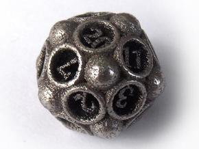 Spore Die20 in Polished Bronzed Silver Steel