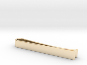 Beveled Edge Tie Clip - Classic Design in 14k Gold Plated Brass