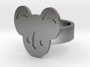 Koala Ring in Natural Silver: 8 / 56.75