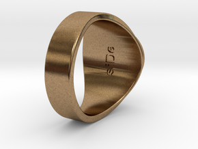 Superball siDe Ring in Natural Brass