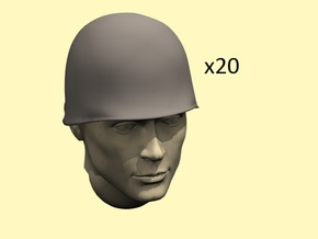 28mm WW2 U.S. steel helmet in Smoothest Fine Detail Plastic