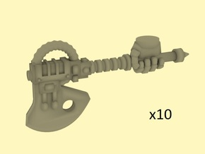 28mm Terebratus axes with armoured hands in Smoothest Fine Detail Plastic