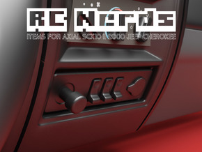 RCN029 bottom panel for Axial Scx10 II dashboard in Smooth Fine Detail Plastic