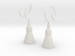 Tassels in White Natural Versatile Plastic