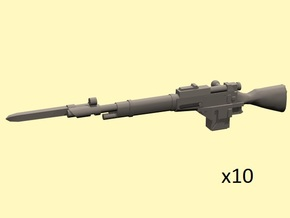 28mm Steampunk Mosin M1891 laser rifles  in Frosted Extreme Detail