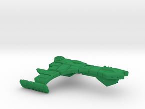 Ramoran D'Feator Class Assault Cruiser - 1:7000 in Green Processed Versatile Plastic