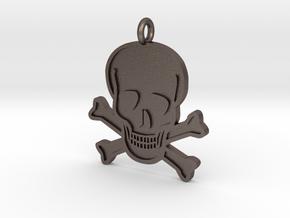 Skull & Crossbones Pendant in Stainless Steel
