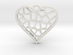 Heartcatcher Pendant in White Natural Versatile Plastic