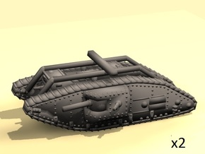 1/160 Mark V Male tank  in White Strong & Flexible
