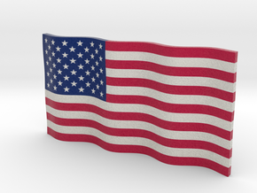 American Flag (Color) in Full Color Sandstone