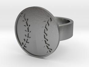 Baseball Ring in Natural Silver: 8 / 56.75