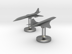Concorde Cufflinks in Natural Silver