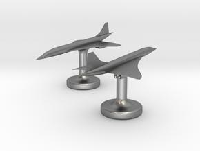 Concorde Cufflinks in Natural Silver