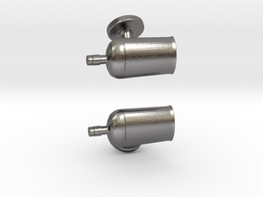 Bourbon Bottle Cufflinks in Polished Nickel Steel