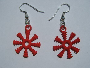 Windmill Earrings in White Natural Versatile Plastic