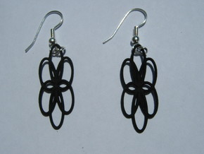 Basin 3 2 Earrings in Black Natural Versatile Plastic