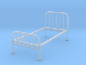 1:24 Iron Bed 1 (Not Full Size) in Smooth Fine Detail Plastic