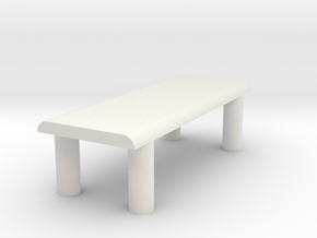 Just A Table in White Natural Versatile Plastic