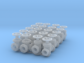 "20 Valves (various designs) for 2.4mm (3/32"") Rod in Smooth Fine Detail Plastic"