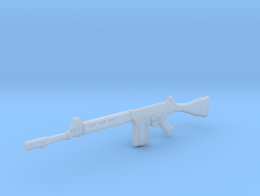 FN FAL 1:18 scale in Smooth Fine Detail Plastic