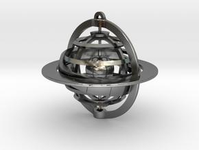 Celestial Globe in Interlocking Polished Silver